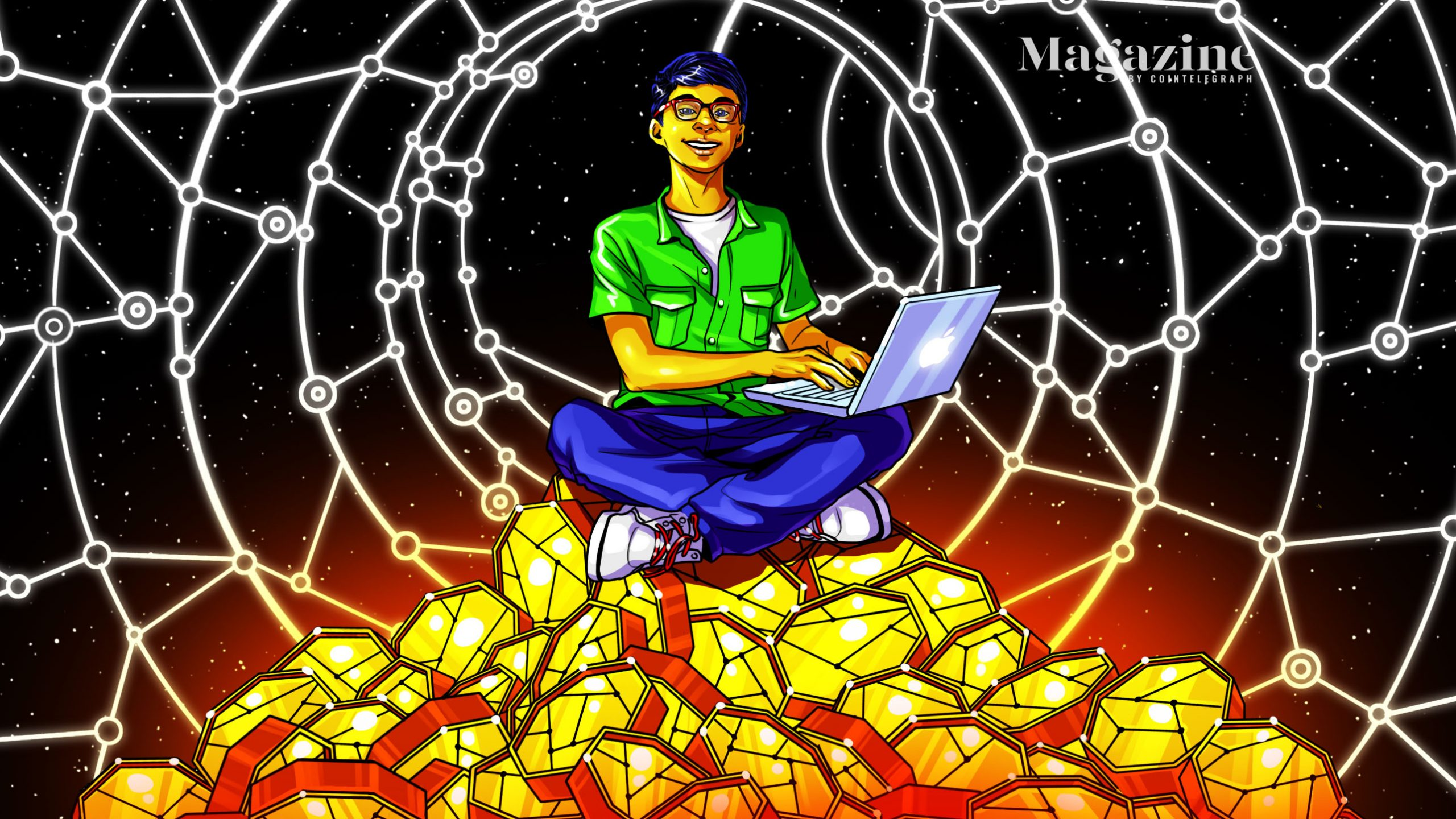 Child's play: Gajesh Naik, 13, manages a fortune in DeFi